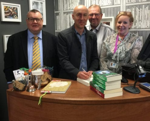 Christopher Brookmyre opens new book shop
