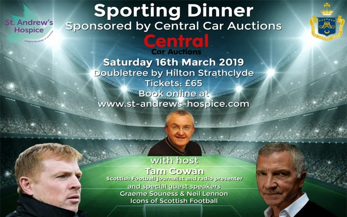 Sporting Dinner: 16 March 2019 - St Andrews Hospice
